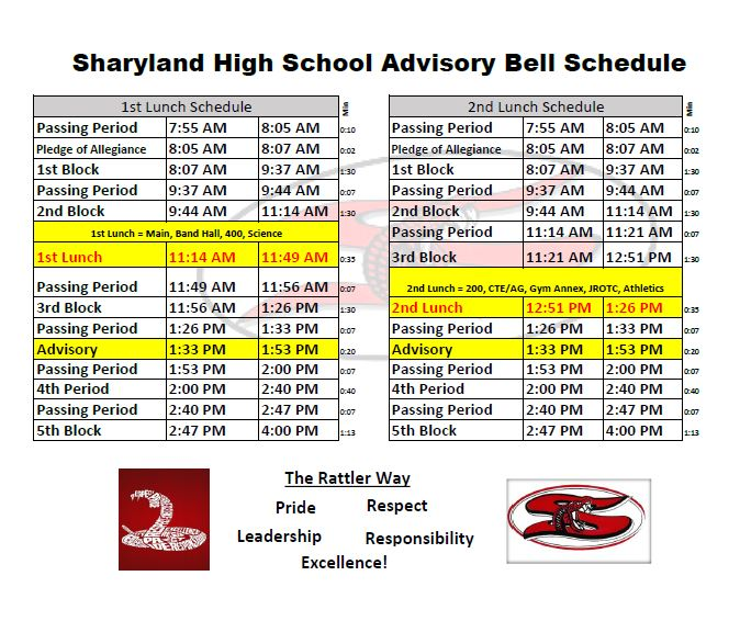 advisory bell schedule