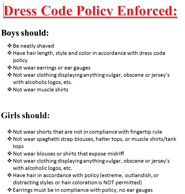 Essay dress code college students