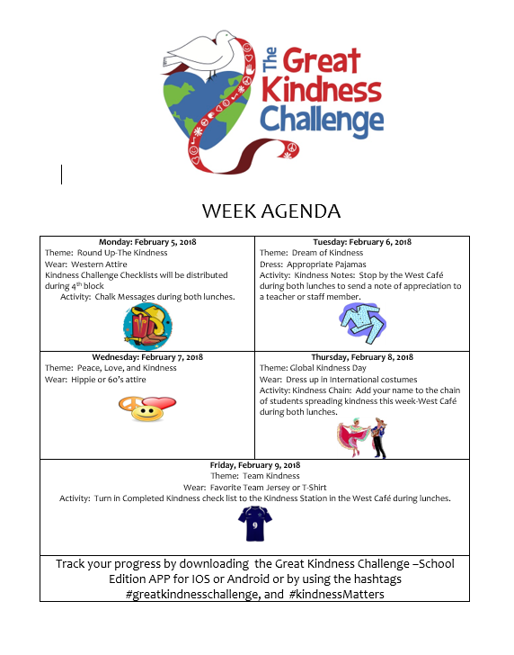 This is the image for the news article titled The Great Kindness Challenge