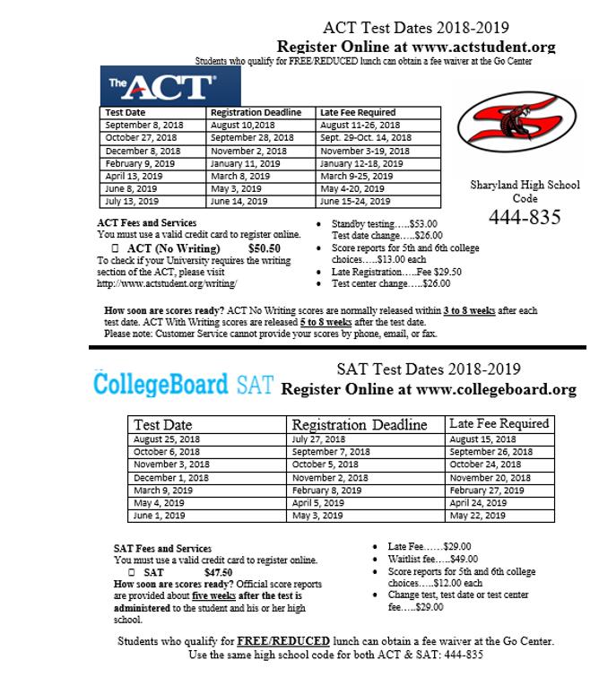 ACT & SAT - Sharyland High School