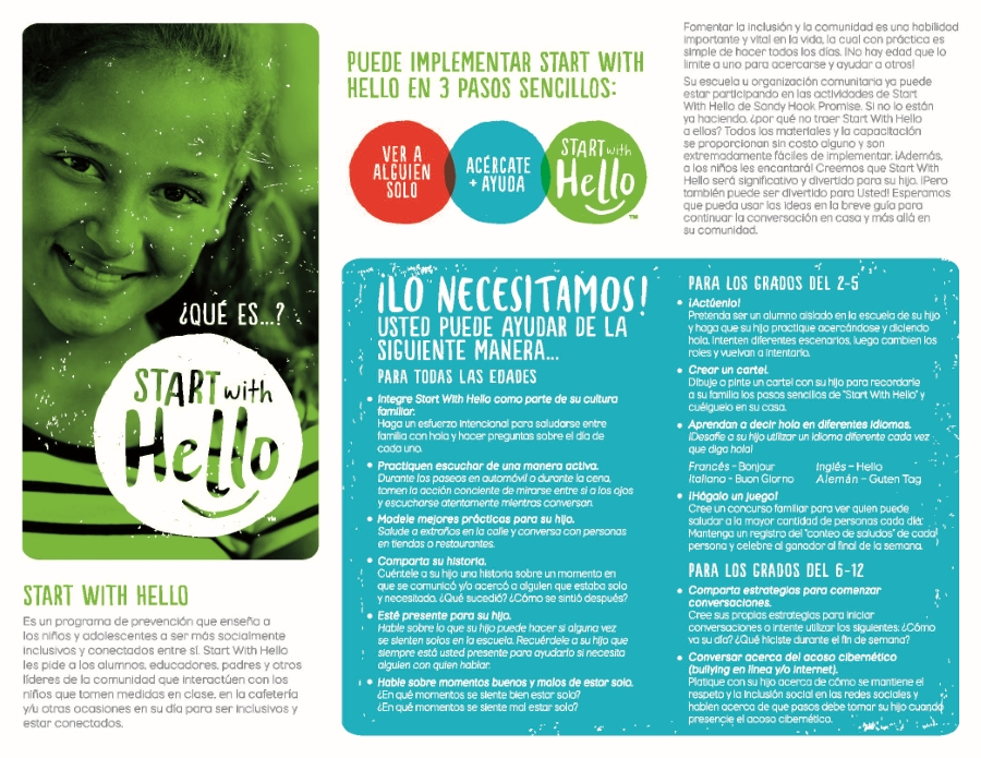 Start with Hello page 1 Spanish